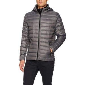 Calvin Klein Men's Packable Down Hoody Jacket GRA